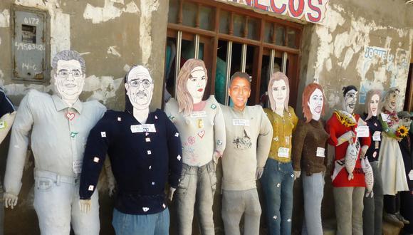 Muñecos de Álvarez y Arroyo tienen gran demanda en Chimbote