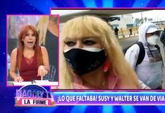 Magaly Medina a Susy Díaz por viajar con Walter Obregón: Yo pensé que ella se quería más