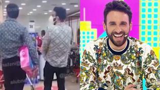 Rodrigo González es captado con misterioso sujeto en un centro comercial (VIDEO)