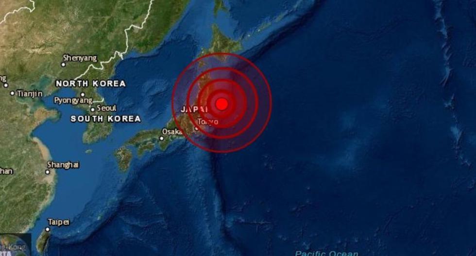 Terremoto de magnitud 7,1 sacude el este de Japón.  (Captura Twitter).