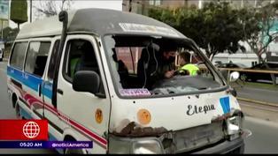 Conductor de combi intentó darse a la fuga y atropelló a joven en Miraflores