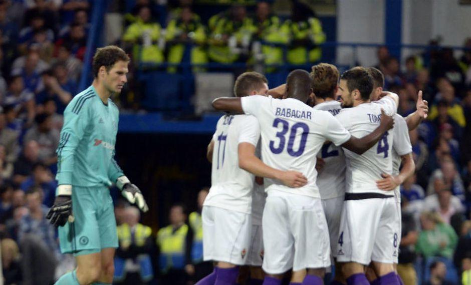 Fiorentina venció 1-0 al Chelsea en Stamford Bridge