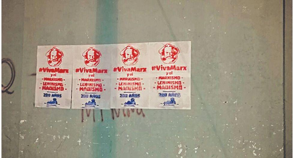 Aparecen afiches de Movadef