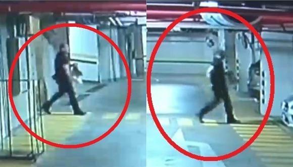 Cámaras registraron a Adolfo Bazán saliendo de su casa para dirigirse al aeropuerto (VIDEO)