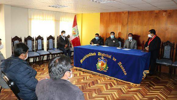 La reunión se desarrolló en el distrito de Ananea, provincia de San Antonio de Putina.