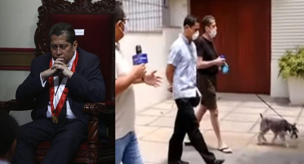 Eloy Espinosa-Saldaña, magistrado del TC, negó que esté prohibido que salga a comprar y pasear a su perro cerca a su casa por coronavirus en Perú. (Foto: GEC/Captura video Panorama)