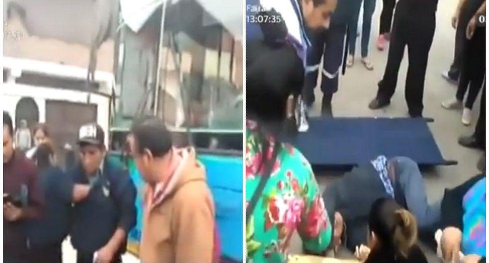 SJM: profesor fue atropellado por bus que estaba compitiendo por pasajeros