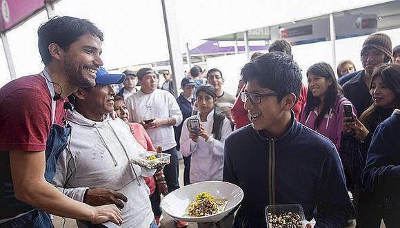 5x5: Ensalada de frejol, quinua y yacón encurtido en cúrcuma sorprende en la cocina del Gran Mercado de Mistura