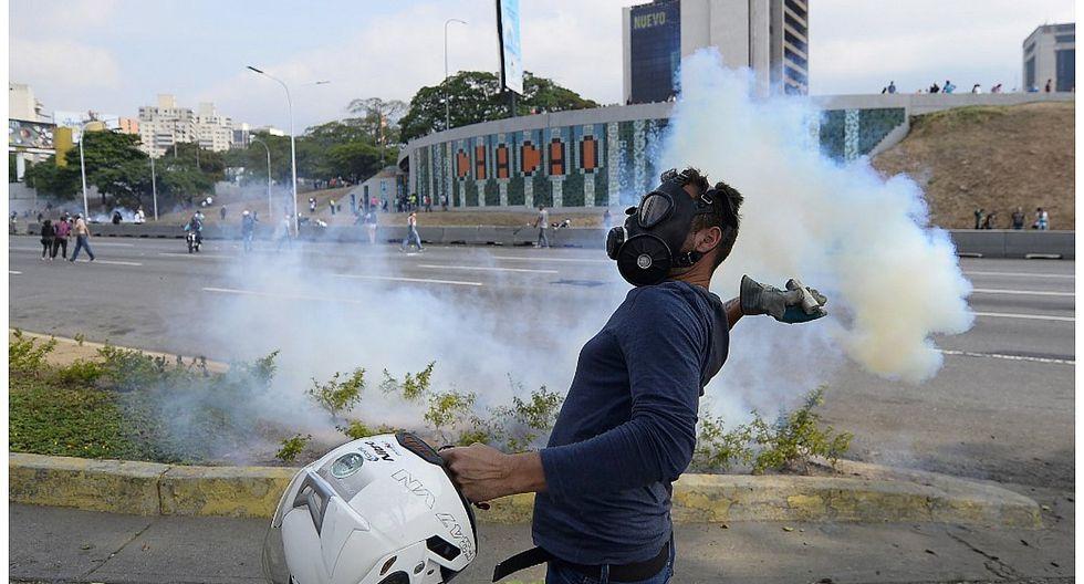 Venezuela: disturbios en base militar La Carlota tras liberación de Leopoldo López (FOTOS)
