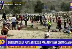 Chorrillos: personas aprovechan el clima y acuden a playas respetando distanciamiento (VIDEO)