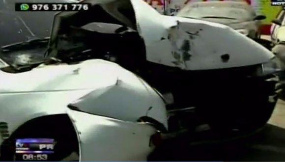 Policías ebrios protagonizan accidente de tránsito