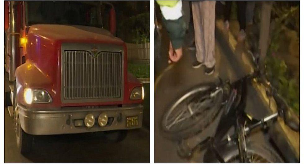 Joven de 22 años murió tras ser atropellado por camión en SJM (VIDEO)