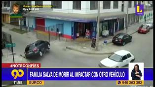 Surco: Familia salva de morir tras vuelta de campana de la camioneta en la que se trasladaban