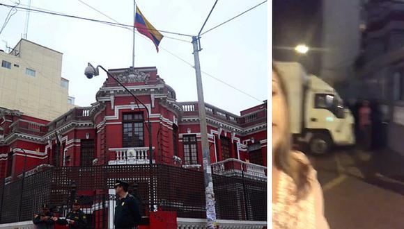 Retiran muebles y otros enseres de la embajada de Venezuela en Lima (VIDEOS)