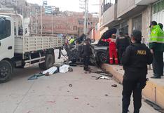 Choque entre camioneta y camión deja 4 fallecidos en Puno