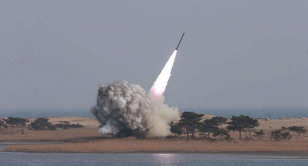 Corea del Norte lanza un misil de medio alcance al mar