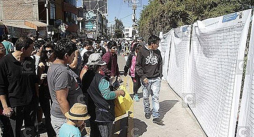1 millón 100 mil 447 de electores en Arequipa escogerán hoy al  próximo gobernador regional