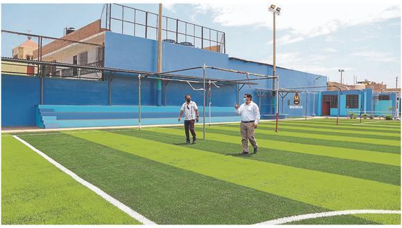 Municipalidad Provincial del Santa verifica buen estado de los recintos deportivos  que entregó a las autoridades electorales para la contienda del domingo.