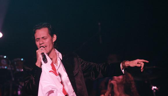 """""""Sin duda los recuerdos más lindos que he tenido en un escenario han sido en Perú, creo que tiene algo único"""" Marc Anthony. 2005 (Foto: GEC Archivo)"""