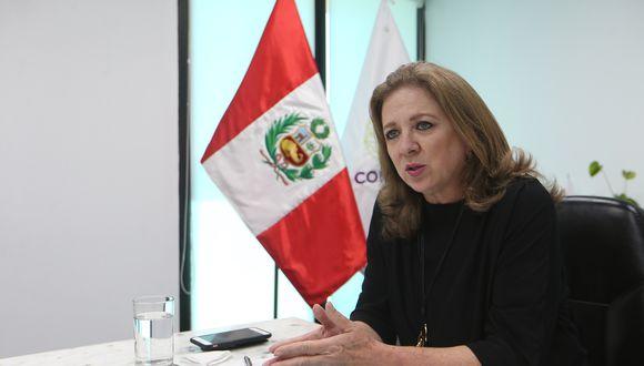 La presidenta de la Confiep, María Isabel León, es del mismo parecer y saludó se mantenga a María Antonieta Alva en el Ministerio de Economía y Finanzas (MEF).  (Foto: GEC)
