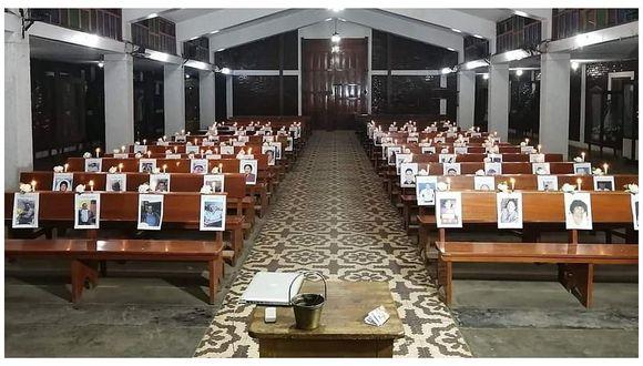 Ofrecen misa en memoria de fallecidos a causa de COVID-19 en la provincia de Virú