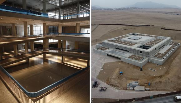 El Museo Nacional de Arqueología es aperturado tras acabar su construcción, pero oficialmente abrirá en el 2024. (Foto: Cesar Campos / Grupo El Comercio)