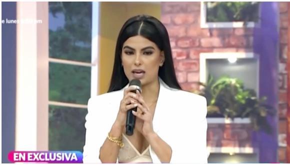 La modelo peruana contó las circunstancias que vivió el año pasado junto a su madre. (Foto: Captura América TV)