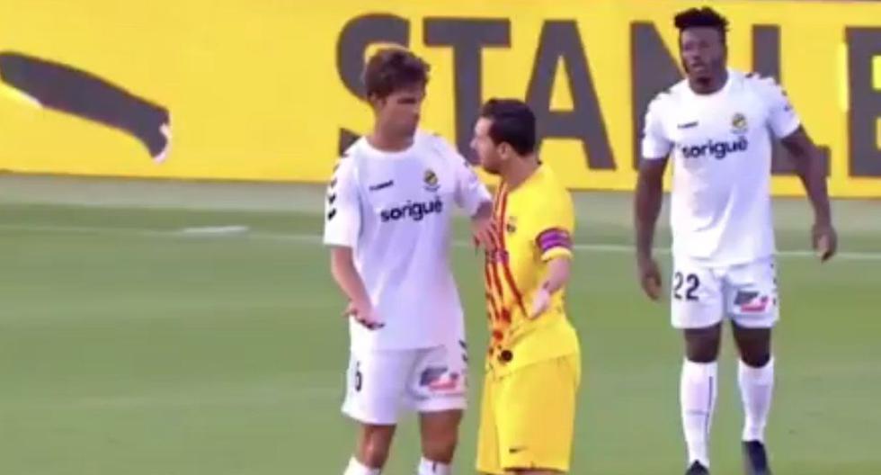 Lionel Messi reclamó a un jugador del Gimnàstic por darle muchas patadas (VIDEO)