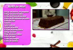 Postres y dulces: Prepara un rico keke de miel con siete soles