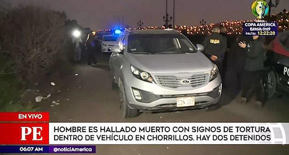 Hallan cuerpo sin vida de hombre dentro de auto en Chorrillos (VIDEO)