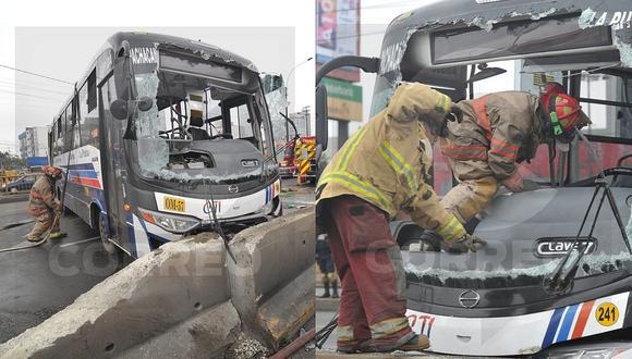 San Borja: 13 heridos por despiste de bus en la avenida Circunvalación (VIDEO)
