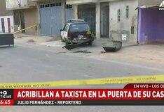 Los Olivos: atacan a balazos a taxista cuando arreglaba su vehículo frente a su casa