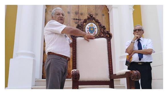 Presentan sillón que utilizará el Papa Francisco para encuentro con el clero (VIDEO)