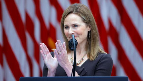 Amy Coney Barrett, candidata de Donald Trump a la Suprema Corte de Justicia de EE.UU. (Foto: AFP)