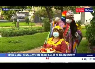Minsa advierte sobre el peligro de los baños de florecimiento en tiempos de pandemia