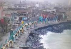 Chimbote: Cámaras de seguridad captan oleajes anómalos