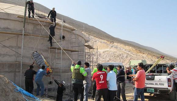 Obrero pierde la vida al caer de reservorio en Calana con 5 metros de altura
