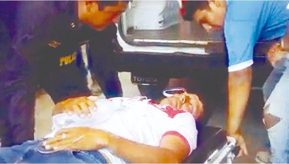 Agricultor es arrollado por un vehículo y conductor se dio a la fuga