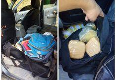 Narcotraficantes fugaron abandonando droga en una camioneta en Sandia