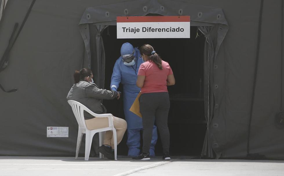 Hasta nosocomios de Lima, llegan algunas personas que presentan síntomas del Covid-19. Foto: Francisco Neyra/ @photo.gec
