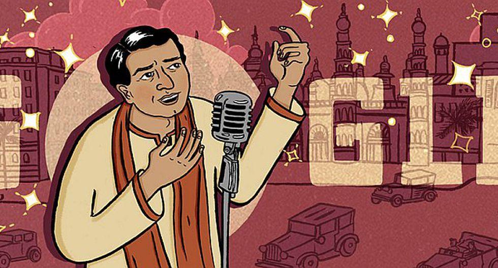Google le rinde homenaje al cantante y actor indio K.L. Saigal