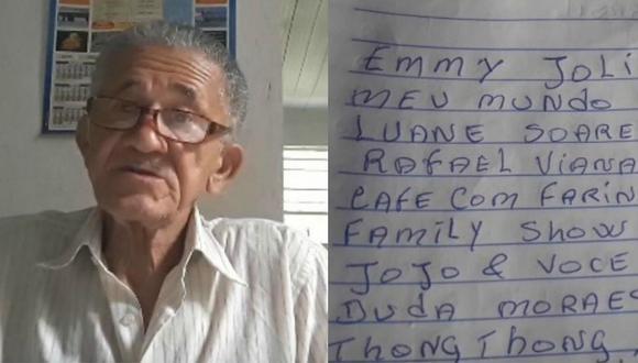 Abuelo youtuber es furor por escribir nombres de todos sus seguidores en un cuaderno