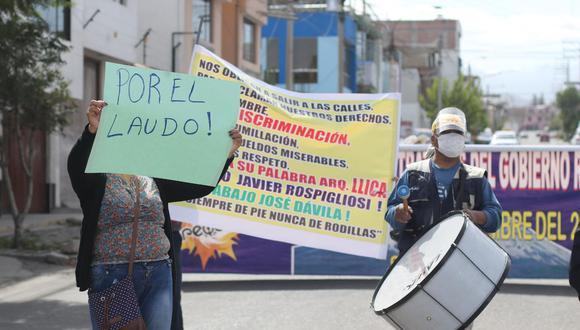 Servidores piden el cumplimiento de laudo arbitral   Foto: Eduardo Barreda