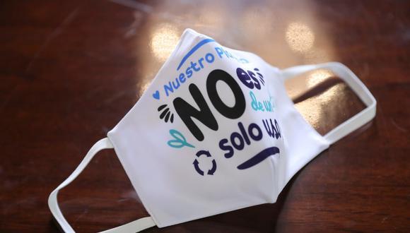 Minam invoca a utilizar mascarillas reutilizables porque las desechables tardan más de 400 años en degradarse. (Foto: Minam)