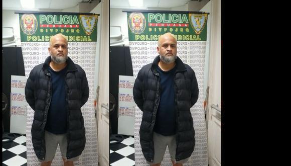 Julio César Rojas Mogollón (49) llevaba el cabello pintado y la barba crecida en su intento de despistar a las autoridades.(Foto: PNP)