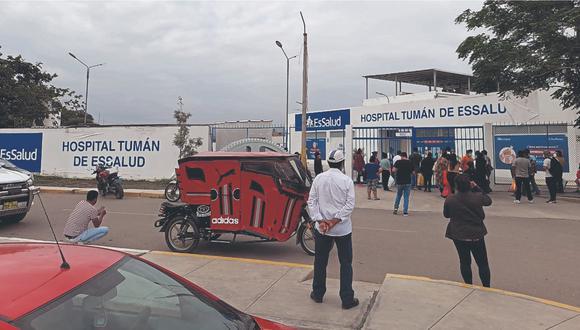 El contratista cobró S/ 390 mil por el mantenimiento de áreas verdes en el Hospital de Tumán.