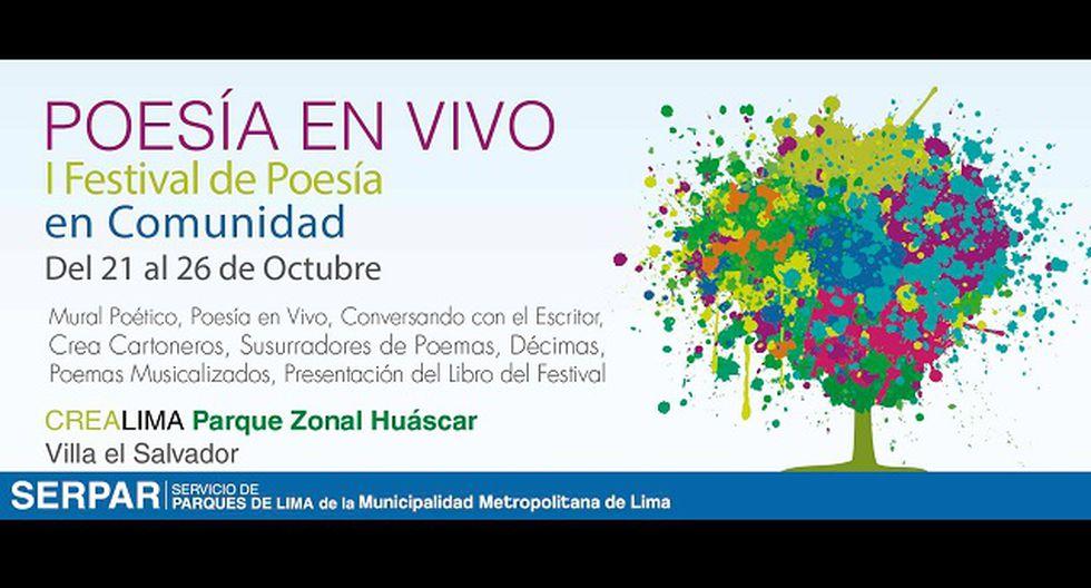 Lima sur vivirá el I Festival de Poesía en Comunidad