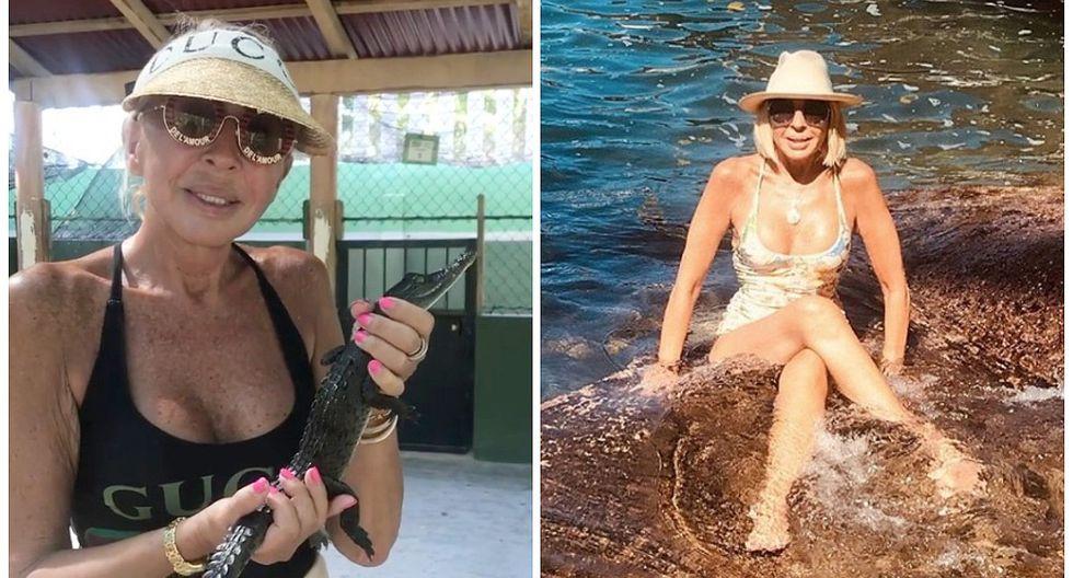 Laura Bozzo sorprende al publicar video en el que besa a un cocodrilo en México