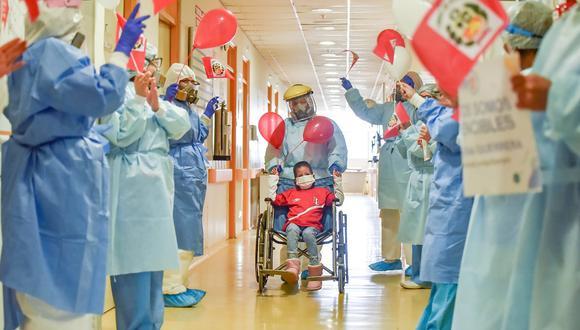 Menor logró vencer al coronavirus y superó quemaduras de tercer grado en el Instituto Nacional de Salud del Niño (INSN) de San Borja (Foto: INSN)
