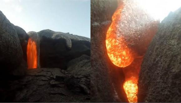 Joven olvidó su cámara en la grieta de un volcán y captó impresionante erupción (VIDEO)